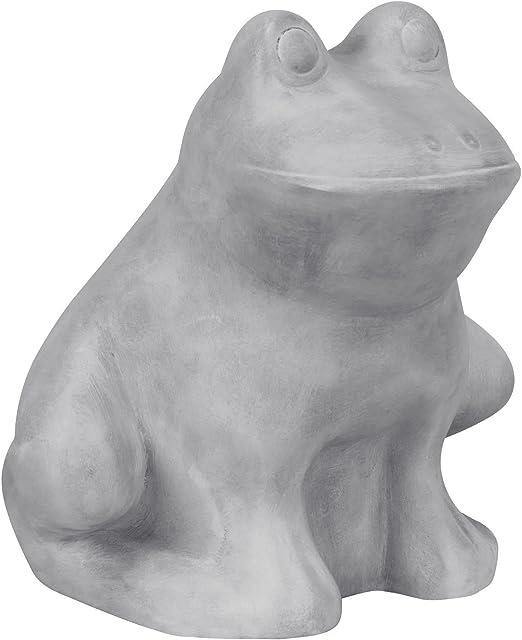 Jardín Decoración de cerámica Rana Jardín Figura Figura gris H 22 ...