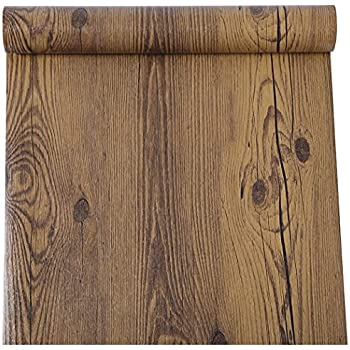 Amazon Com Rustic Dark Walnut Wood Grain Contact Paper