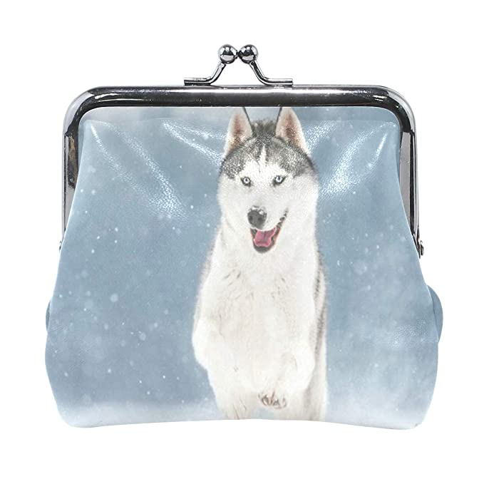 Amazon.com: Monedero divertido Siberian Husky para mujer ...