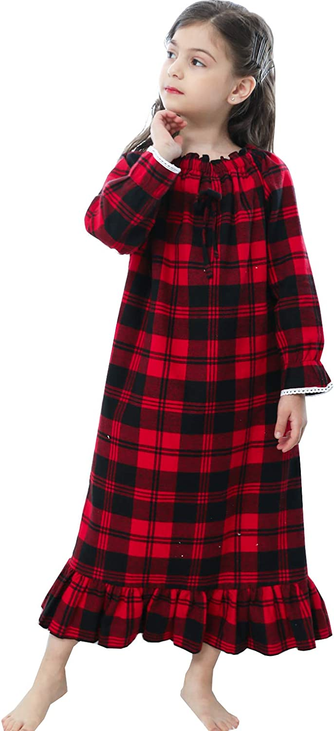 Details about  /3-12 years old wearing big girl winter long-sleeved flannel pajamas suit 2021