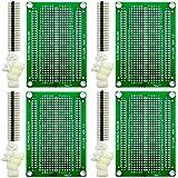 Electronics-Salon 4x Solderable Breadboard Proto Board PCB DIY Kit for Raspberry Pi 2/3 Model A B A+ B+ ZERO