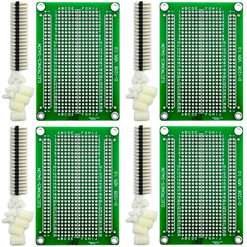 Electronics-Salon 4x Solderable Breadboard Proto Board PCB DIY Kit for Raspberry Pi 2/3 Model A B A+ B+ ZERO by Electronics-Salon