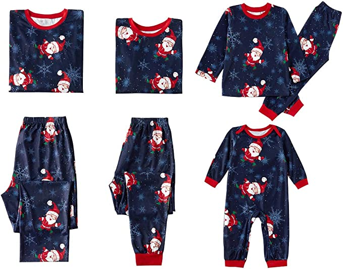 Carters Christmas Baby Girls 2 piece Cotton Pajama Set Santa or Snowflakes New