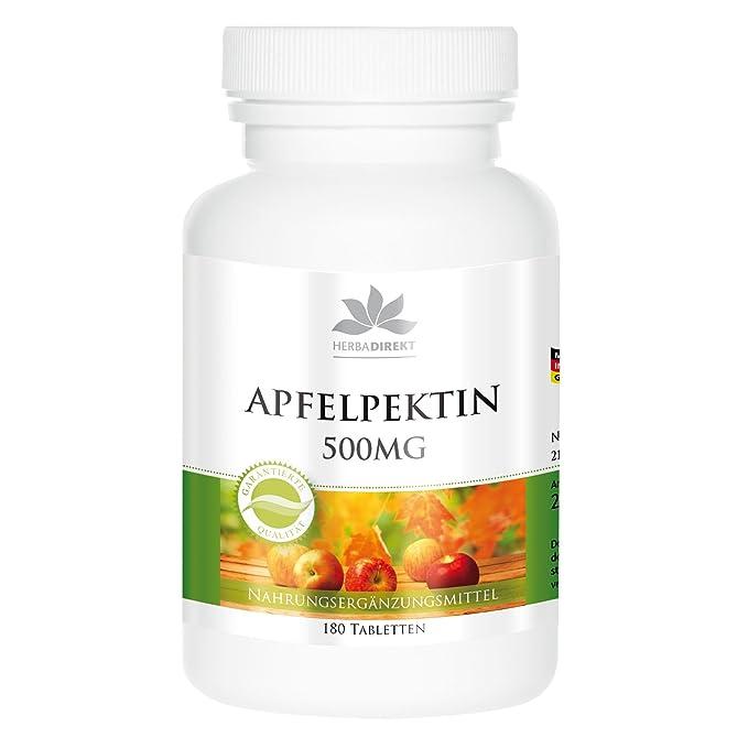 Pectina de manzana con calcio - 500mg - 180 comprimidos: Amazon.es: Salud y cuidado personal