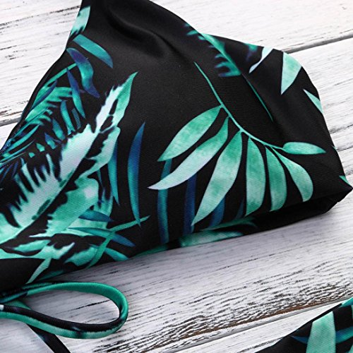 Donna Nero Pezzi con Boemia Bikini Tropical Bikini Bikini Ado Top 2 Triangolo Stampato Girl Intaglio Bikini Bikini 1xBfZ1qa