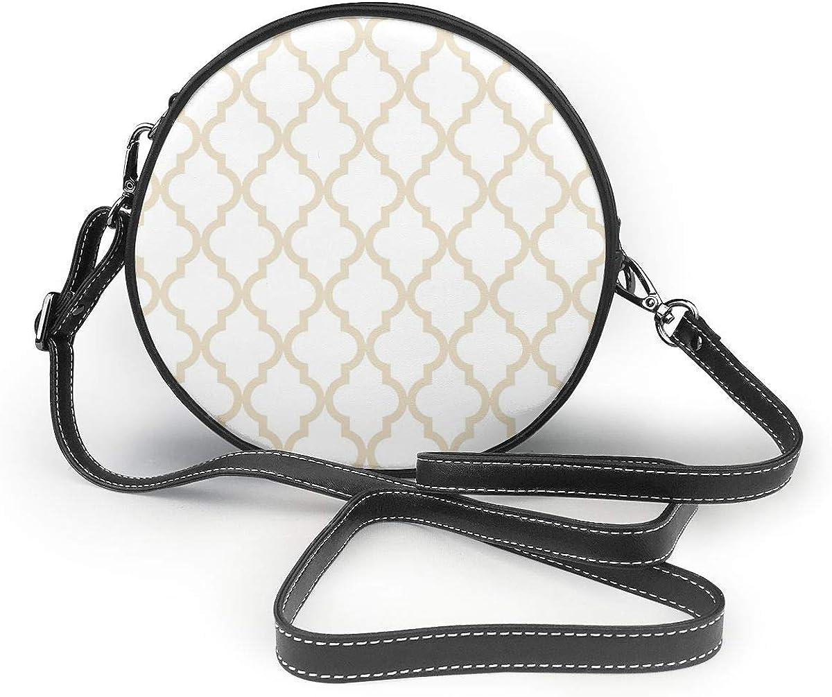 Monedero de muselina con patrón de cuadrifolio marroquí, bolso de cuero sintético con cremallera para el hombro, bolso de teléfono celular para mujer personalizado