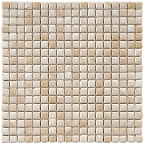 (SomerTile FCP96RPE Arcadia Perla Bone Porcelain Floor and Wall Tile, 12