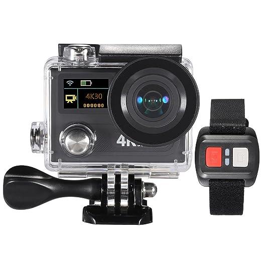 """2 opinioni per Andoer 2 """"Azione LCD Della Fotocamera Dual Screen Ultra HD 360 VR Gioca Wifi 4K"""
