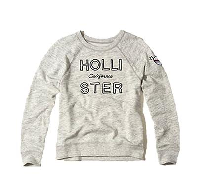 6a19e5a48 NEW HOLLISTER ABERCROMBIE Medium M GIRLS WOMEN HEATHER GREY SWEATSHIRT  HOODIE SIZE: M: Amazon.co.uk: Clothing