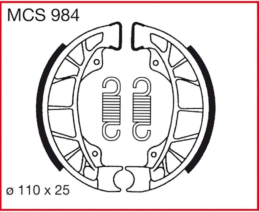 Bremsbacken TRW Runner 50 C14 97-01 hinten