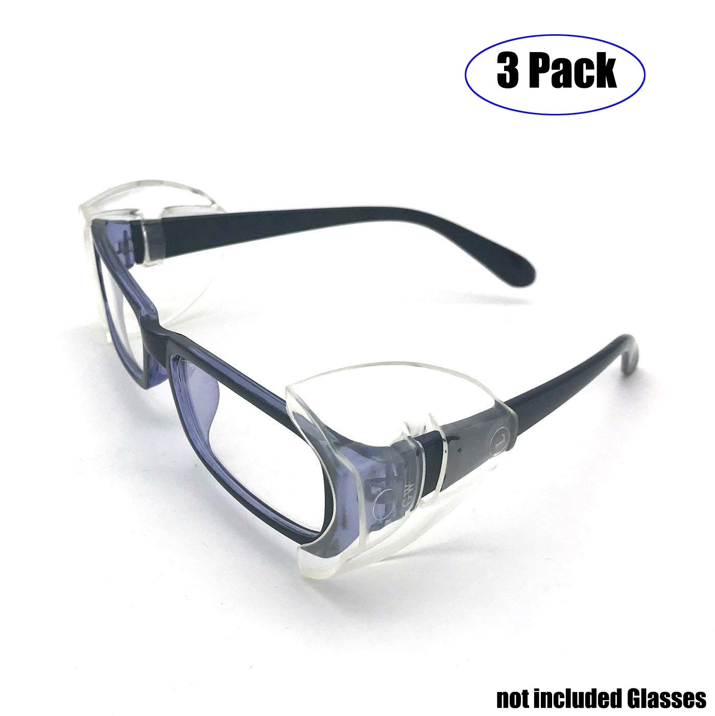 2x clear universal flexible side shield safety glasses goggles eye protection RS