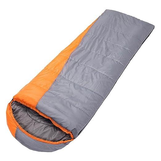 ZXQZ Saco de dormir para adultos al aire libre que acampa de viaje cálido saco de dormir Otoño e invierno grueso saco de dormir impermeable y resistente a ...