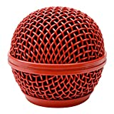 Seismic Audio SA-M30Grille-Red Replacement Red Steel Mesh Microphone Grill Head for Shure SM58, Shure SV100