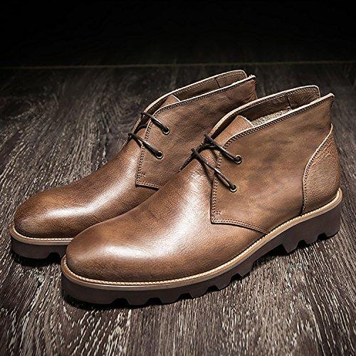 Brown Light HZHY uomo casual stivali 0x1pB