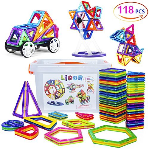 Permalink to New Mannequin Magnetic Blocks & Tiles (118 Items) – Instructional Toys for Toddlers – Magnetic Constructing Set – Magnetic Toys for Infants & Youngsters with Colourful Shapes  Opinions