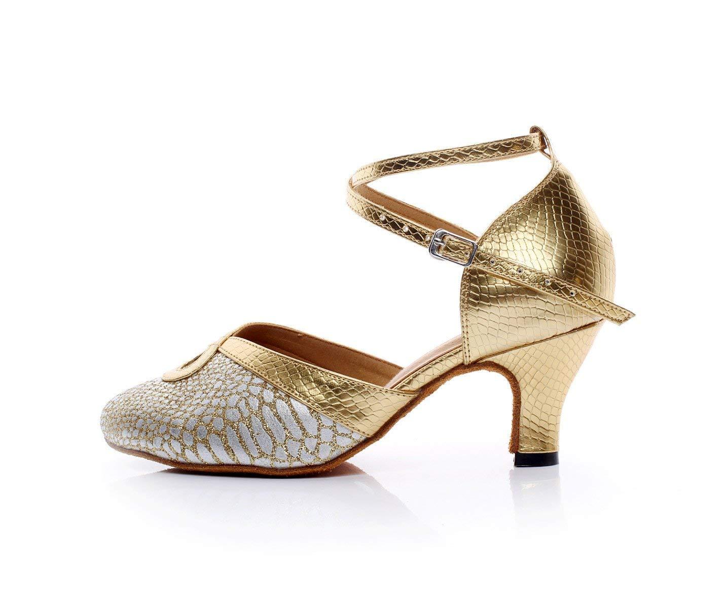 Yingsssq Damen Leder Leder Leder Spitz Kitten Ferse Latin Ballroom Dance Schuhe Salsa Tango Chacha Samba Modern Jazz Schuhe Gelb-heeled6cm-UK5.5   EU38   Our39 e617ca