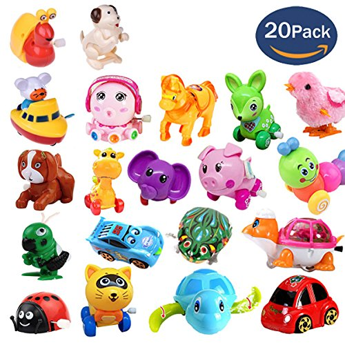 20Pack Wind up Toys Assorted Mini Toy Animal for Children's Party Gifts Kids Birthdays Random Styles