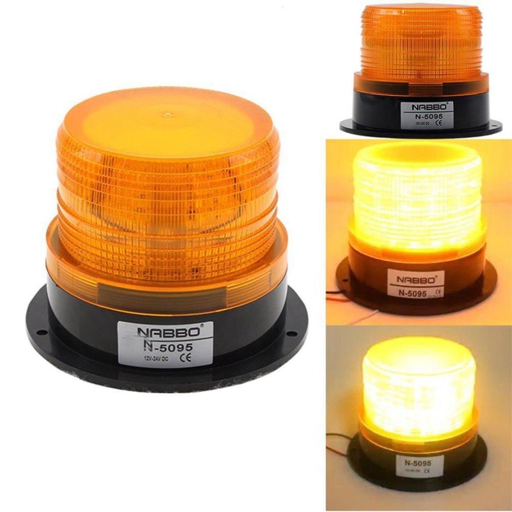 LCLrute Hohe Qualität LED Auto Warnleuchte Notlichtbirne Bernstein blinkende Strobe Beacon 12V-24V