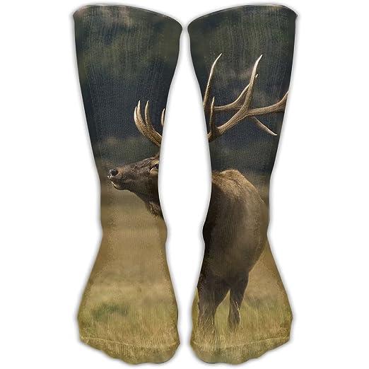 8f2d22c7acd26 Amazon.com: Crew Socks Cotton Elk Deer Sport Comfortable Breathable ...
