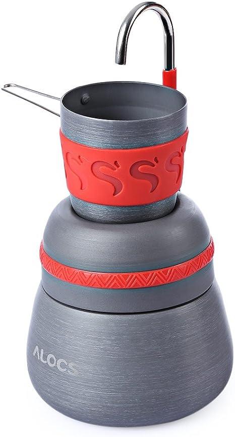 Ultraligero térmica cafetera eléctrica cocina Copa Pot aleación de aluminio batería de cocina para camping, senderismo, pesca Picnic: Amazon.es: Deportes y aire libre