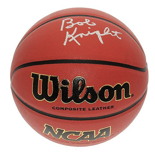 Bobby Knight Indiana Hoosiers Autographed NCAA Wilson Game Basketball - PSA/DNA Certified Authentic - Autographed Ncaa Basketball
