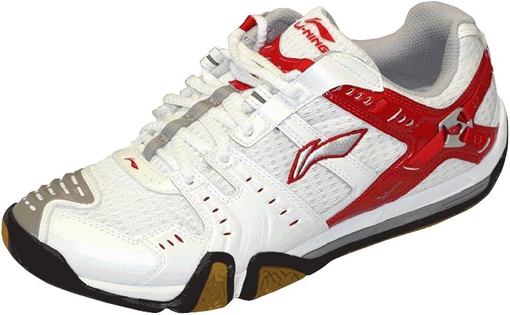LI-NING Metal X Zapatilla de Indoor Caballero, Blanco/Rojo, 41: Amazon.es: Zapatos y complementos