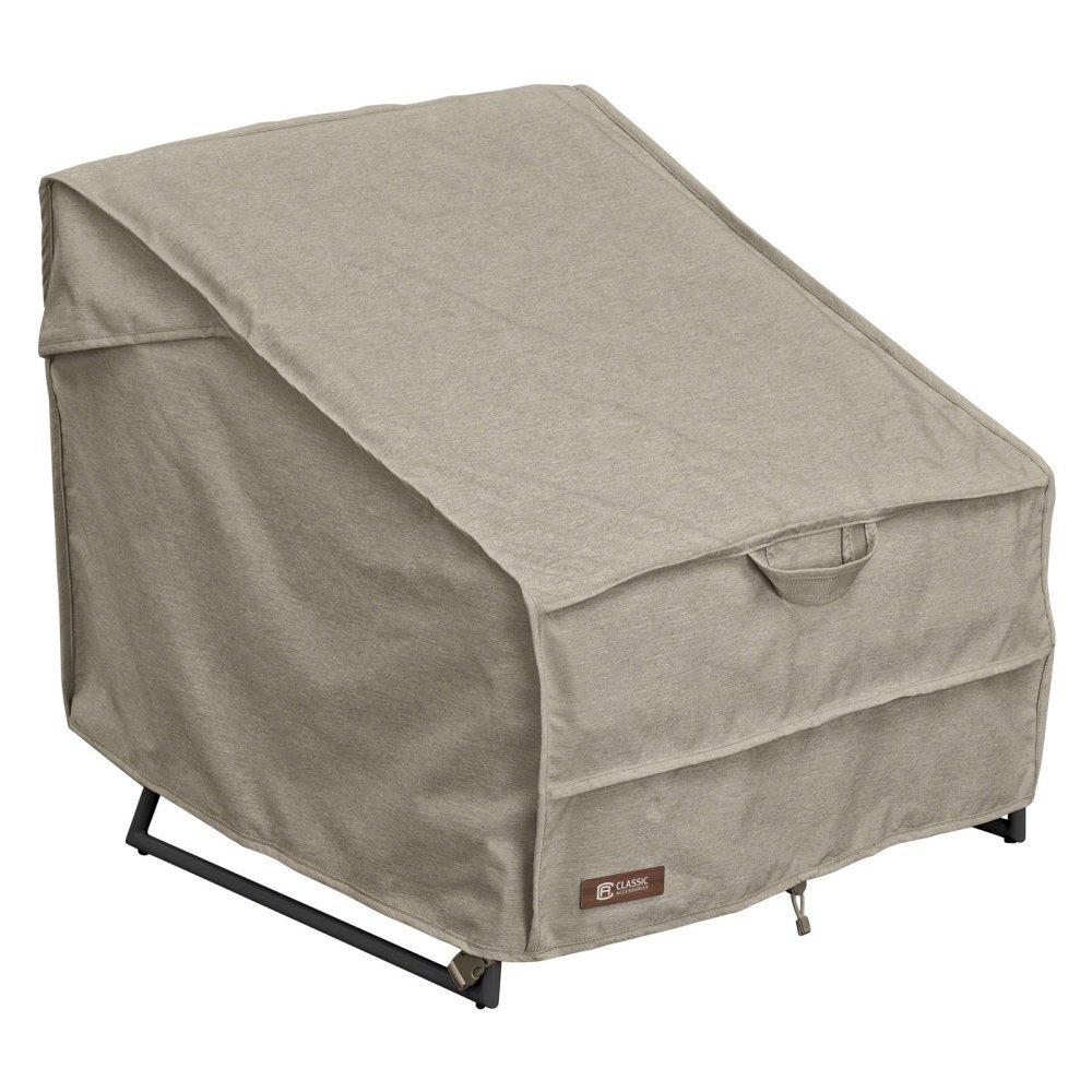 クラシックアクセサリーMontlake標準パティオ椅子カバー One Size B01IU9ESR8  ベージュ