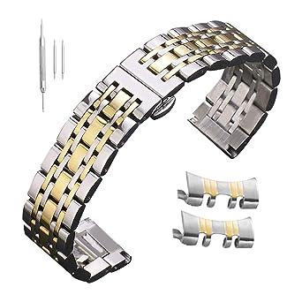 Uhrenarmbänder Männer 15mm 16mm Uhrenbänder 19mm 20mm 21mm 12mm Edelstahl 18mm 14mm 24mm 17mm 22mm 23mm tshQrCd