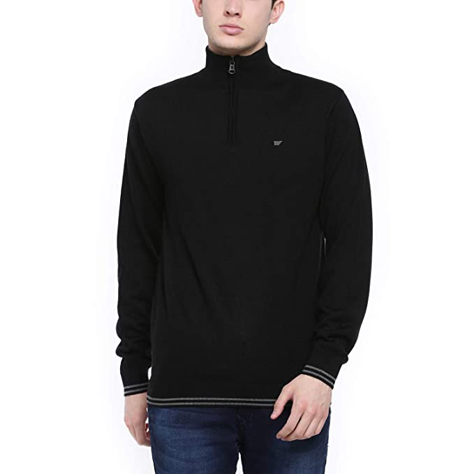 t base Black Stripe Sweater Sweater for Mens: Amazon.in