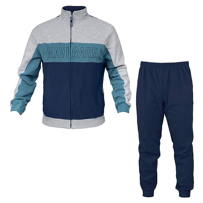 4c6c0c8582 Pigiama Uomo Navigare Pile 2 Colori Full Zip Art.140969: Amazon.it:  Abbigliamento