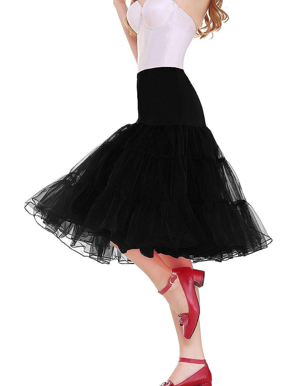 MinYuocom Women 50s Style Petticoat Skirts Tutu Crinoline Vintage Underskirt MZF4707