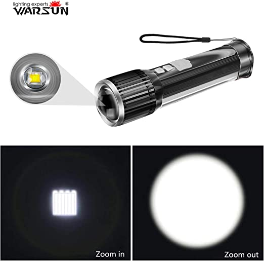 Portable 3W LED Zoomable AAA Flashlight Torch Light portable mini pocket DN
