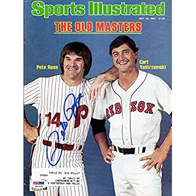 e876fa405 Pete Rose Autographed Signed Sports Illustrated Phillies  X62934 - PSA DNA  Certified - Autographed