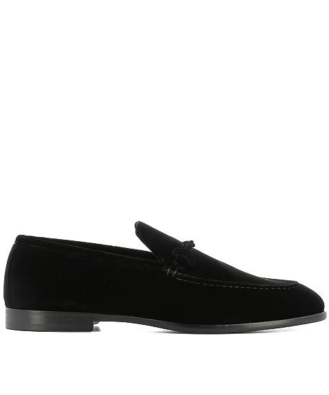 Men's MARTIVELBLACK Black Velvet Loafers