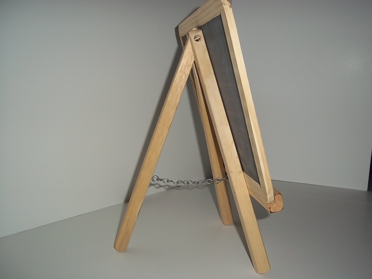 Wood Tripod Easel with Double Sided Slate Chalkboard Display