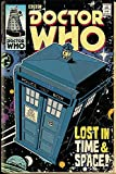 Doctor Who Poster Tardis Comic (61cm x 91,5cm) + 1 pack tesa powerstrips, 20 pieces