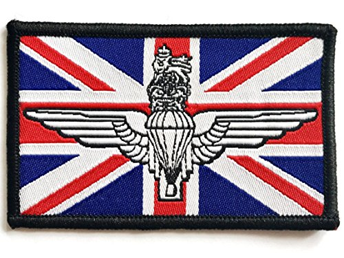 GB UNION JACK PATCH sew on army Red White Blue military flag badge UK Forces
