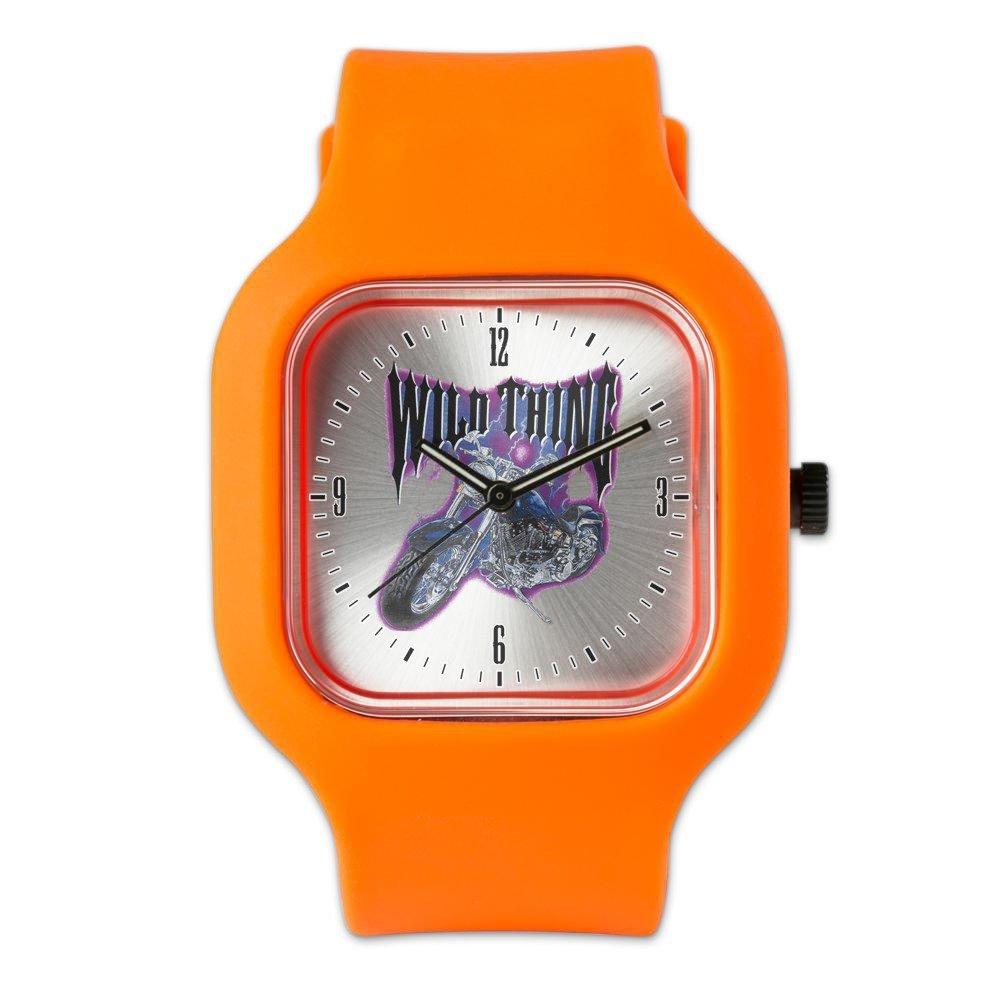 Orange Fashion Sport Watch Wild Thing Motorcycle Biker