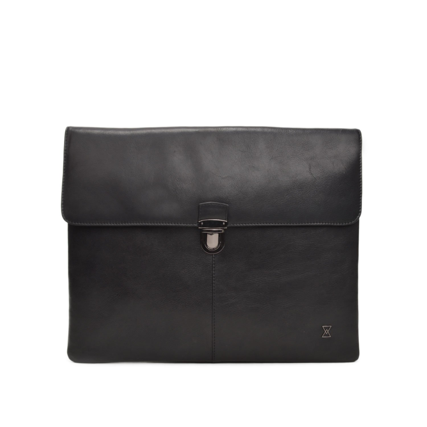 TERRACOMO New York - Wallstreet - Italian Leather Business Portfolio Brief for 13'' Laptops & Documents (Italian Black VT Leather)