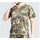 【ノーブランド品】タクティカルTシャツ   迷彩Tシャツ   サバゲーTシャツ color:マンドレイクタイプ size:M