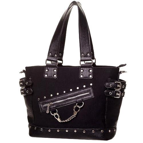 85938dcb2868e Banned Gothic Damen Handtasche - Schultertasche Handschellen