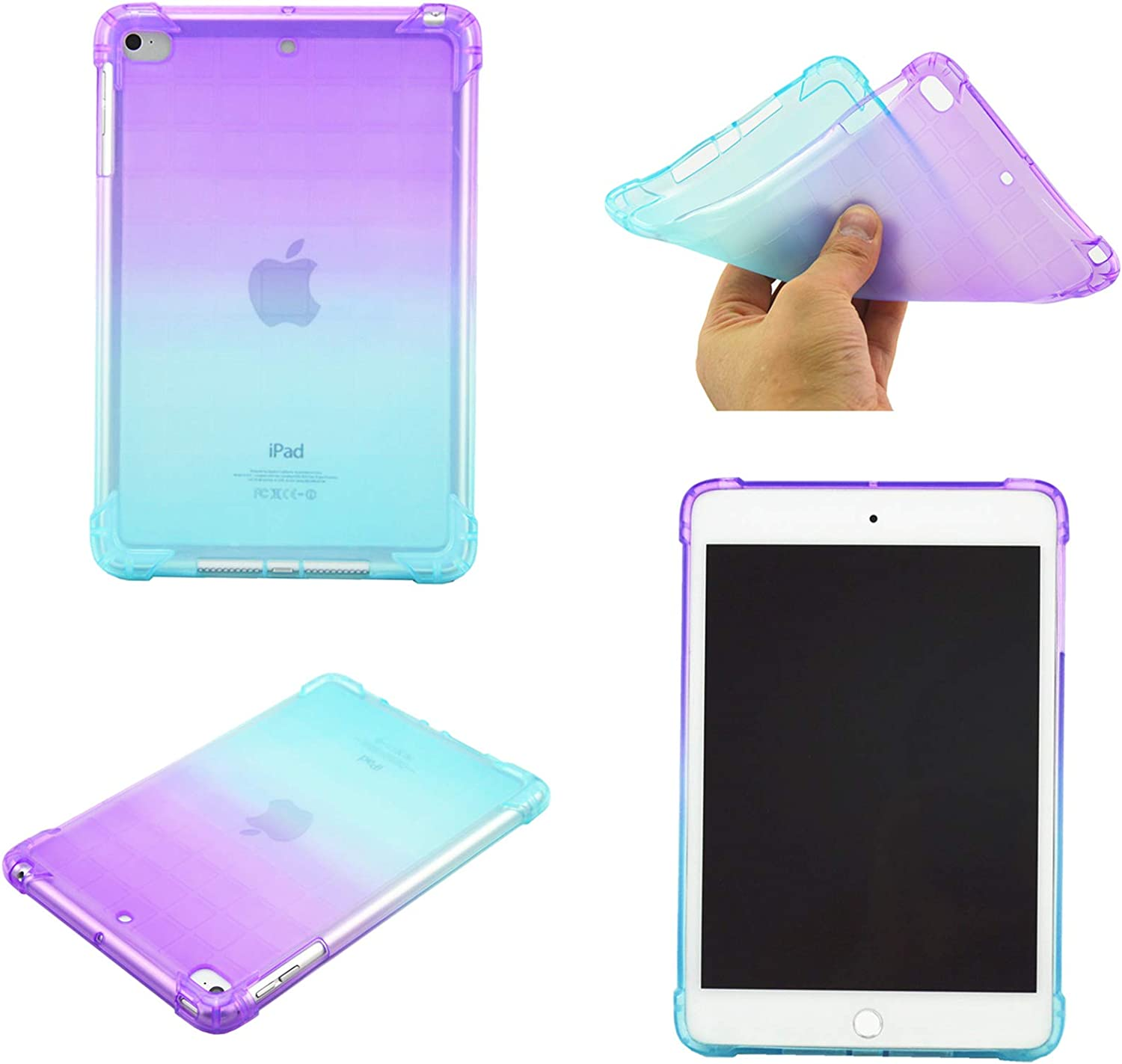 2019 Yellow Ultra Slim Lightweight Flexible TPU Silicone Back Tablet Shockproof Cover ,MOIKY Blue Case for iPad Mini 1 2 3 4 5,Soft Clear Case for iPad Mini//Mini 2// Mini 3// Mini 4// iPad Mini 5