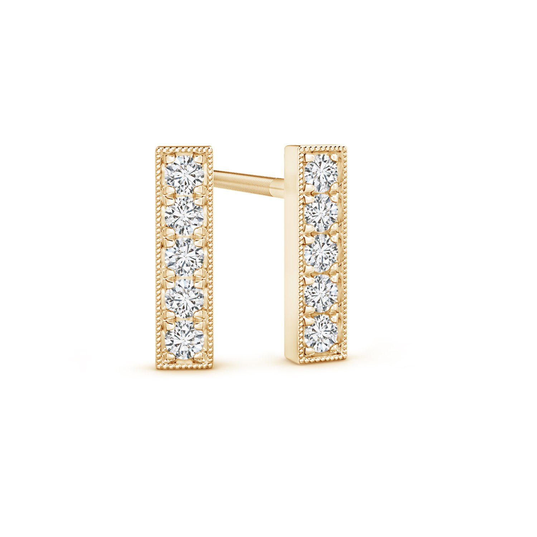 Pure Ignis Lab Grown Diamond Linear Bar Stud Earrings in 14K Yellow Gold