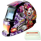 iMeshbean Pro Cool Colorful Clown Style Solar Auto-Darkening Welding & Grinding Helmet + 2 pcs Extra Lens Covers ANSI Certified Model#1044 USA