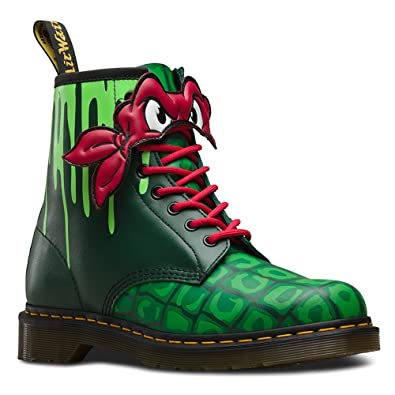 Dr. Martens Women's Raph 8 Eye Fashion Boots, Green Leather, 5 M UK
