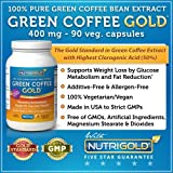 coffee bean extract pure mg - 100% Pure Green Coffee Bean Extract, 400 mg, 90 Veg. Capsules (The GOLD Standard Green Coffee Extract, Guaranteed 50% Chlorogenic Acid) 800mg per Serving