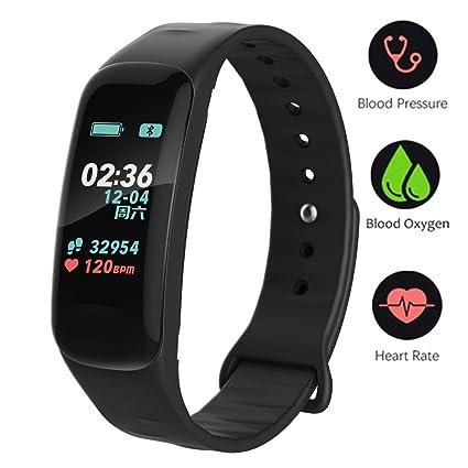 UWATCH Fitness Muñequera con Monitor de Ritmo cardíaco, Reloj Impermeable IP67 Cronómetro Deportes GPS Rastreador