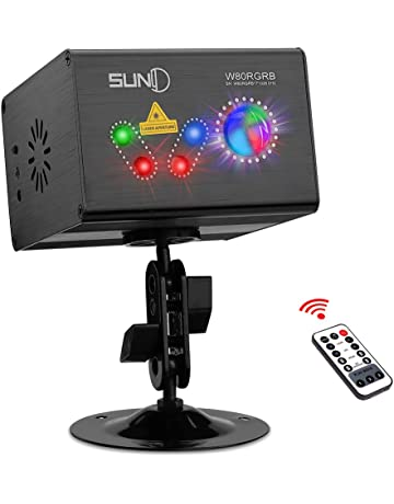 Party Laser Lights SUNY Hardwired Sound Activated Light RGB Multiple Patterns Projector Galaxy LED Ripple Wave