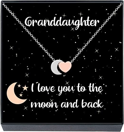 Personalised Message SanaBelle\u2122 Special Daughter  Granddaughter 925 Sterling Silver Open Ribbon Heart Necklace