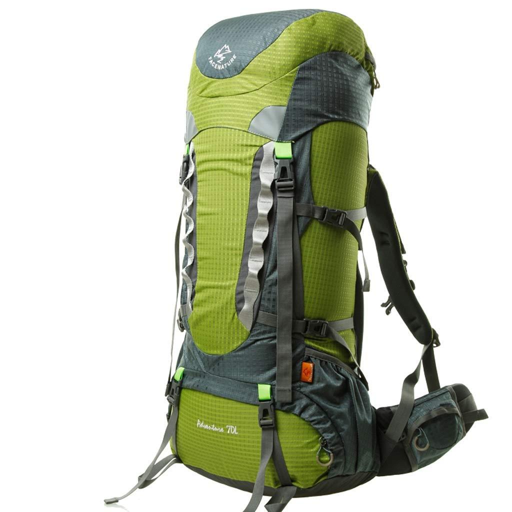 WLDSH Camping Sac de randonnée Grande capacité Sac à Dos Plein air pour Hommes et Femmes Sac à Dos de Voyage étanche 70L (Couleur   Vert) Vert -